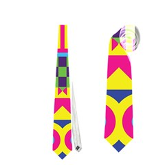 Colorful shapes in rhombus pattern Necktie