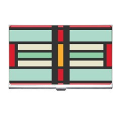 Mirrored Rectangles In Retro Colors Business Card Holder