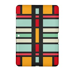 Mirrored Rectangles In Retro Colors Samsung Galaxy Tab 2 (10 1 ) P5100 Hardshell Case
