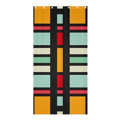 Mirrored rectangles in retro colors	Shower Curtain 36  x 72
