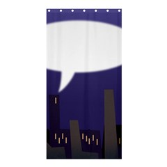 City Speech  Shower Curtain 36  x 72  (Stall)