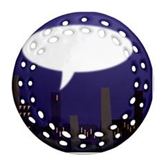 City Speech  Round Filigree Ornament (2Side)