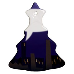 City Speech  Christmas Tree Ornament (2 Sides)