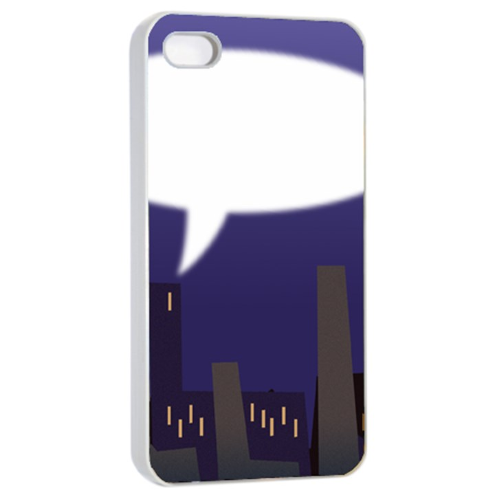 City Speech  Apple iPhone 4/4s Seamless Case (White)