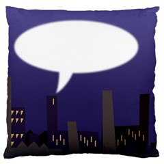 City Speech  Large Flano Cushion Cases (one Side)