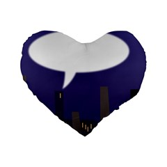 City Speech  Standard 16  Premium Flano Heart Shape Cushions