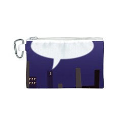 City Speech  Canvas Cosmetic Bag (S)