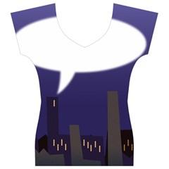 City Speech  Women s V-Neck Cap Sleeve Top