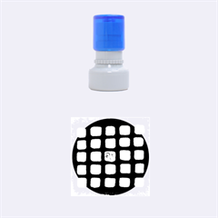 Crowd  Rubber Round Stamps (Small)