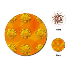 Dandelion Pattern Playing Cards (Round)