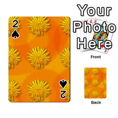 Dandelion Pattern Playing Cards 54 Designs