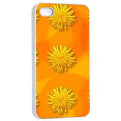 Dandelion Pattern Apple iPhone 4/4s Seamless Case (White)