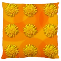 Dandelion Pattern Large Flano Cushion Cases (Two Sides)