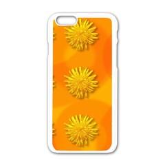 Dandelion Pattern Apple Iphone 6 White Enamel Case