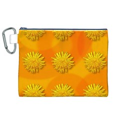 Dandelion Pattern Canvas Cosmetic Bag (XL)