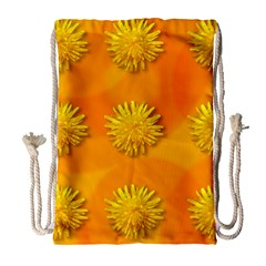 Dandelion Pattern Drawstring Bag (large)