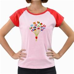 Flag Bouquet Women s Cap Sleeve T-Shirt