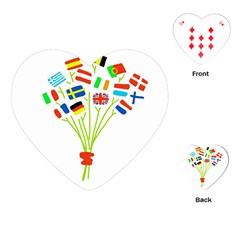 Flag Bouquet Playing Cards (Heart)