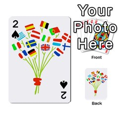 Flag Bouquet Playing Cards 54 Designs