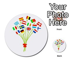 Flag Bouquet Multi Purpose Cards (round)