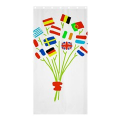 Flag Bouquet Shower Curtain 36  x 72  (Stall)