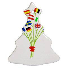Flag Bouquet Christmas Tree Ornament (2 Sides)