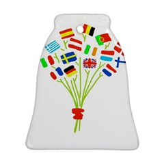 Flag Bouquet Bell Ornament (2 Sides)