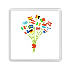 Flag Bouquet Memory Card Reader (Square)