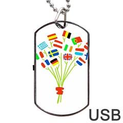 Flag Bouquet Dog Tag USB Flash (Two Sides)