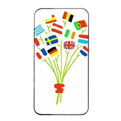 Flag Bouquet Apple iPhone 4/4s Seamless Case (Black)