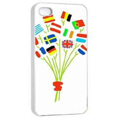 Flag Bouquet Apple Iphone 4/4s Seamless Case (white)