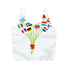 Flag Bouquet Full Print Recycle Bags (m)