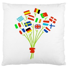 Flag Bouquet Standard Flano Cushion Cases (two Sides)