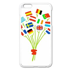 Flag Bouquet Apple iPhone 6 Plus Enamel White Case
