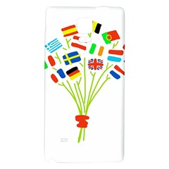 Flag Bouquet Galaxy Note 4 Back Case