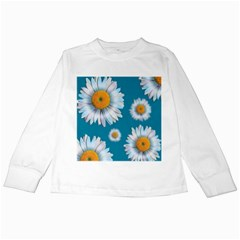 Floating Daisies Kids Long Sleeve T-Shirts