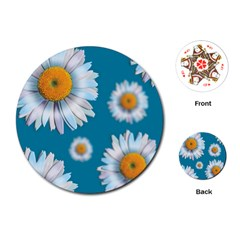 Floating Daisies Playing Cards (Round)
