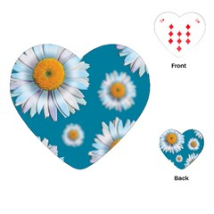 Floating Daisies Playing Cards (Heart)