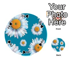 Floating Daisies Playing Cards 54 (Round)