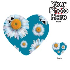 Floating Daisies Playing Cards 54 (heart)