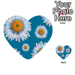 Floating Daisies Multi-purpose Cards (Heart)