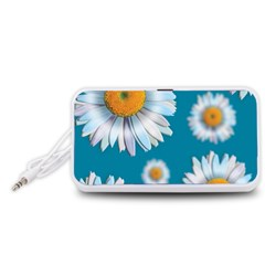 Floating Daisies Portable Speaker (white)