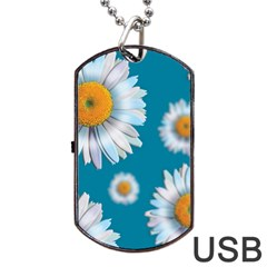 Floating Daisies Dog Tag USB Flash (One Side)