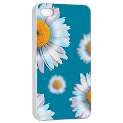 Floating Daisies Apple iPhone 4/4s Seamless Case (White)