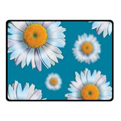 Floating Daisies Double Sided Fleece Blanket (Small)