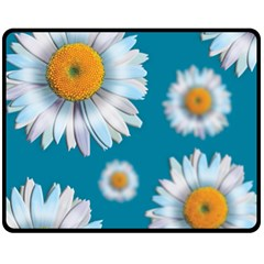 Floating Daisies Double Sided Fleece Blanket (Medium)