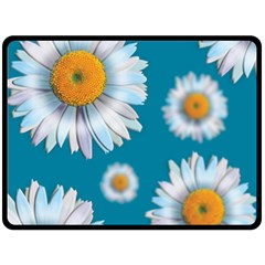 Floating Daisies Double Sided Fleece Blanket (Large)