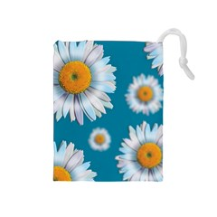 Floating Daisies Drawstring Pouches (medium)