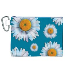 Floating Daisies Canvas Cosmetic Bag (XL)