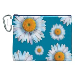 Floating Daisies Canvas Cosmetic Bag (XXL)